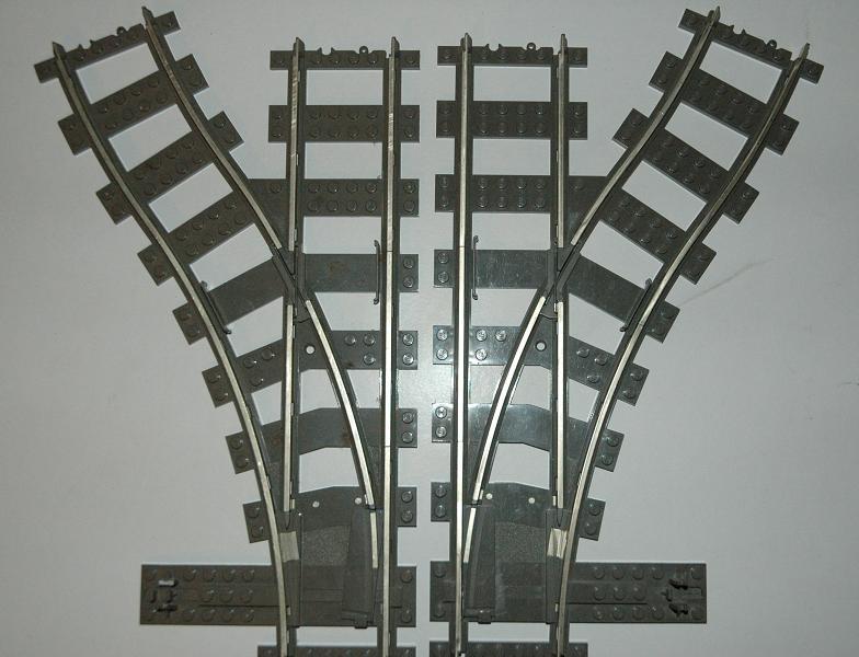 Lego 9V Eisenbahn TRAIN 4531 Weiche Rechts DEFEKT SWITCH POINTS RIGHT TRACK