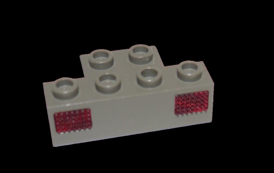 Lego 9V Eisenbahn TRAIN Licht Prisma für Lampe NUR PRISMA ROT LIGHT